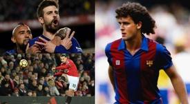 Les huit joueurs qui ont évolué à Barcelone et à Manchester United. AFP