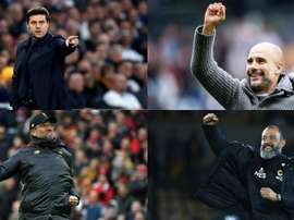 The four nominees for the Manager of the Season Award. AFP/EFE