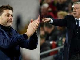 Pochettino et Ancelotti, candidats au banc d'Everton. Montage/EFE/AFP