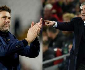 Pochettino and Ancelotti are the two candidates to take over at Goodison Park. Montaje/EFE/AFP