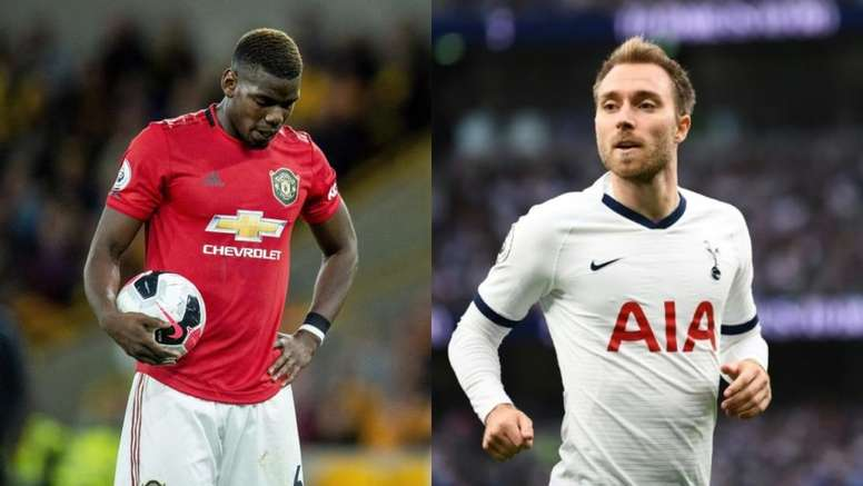 Just as the Eriksen option gains strength, Pogba is losing it. AFP/EFE