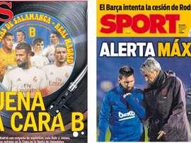 Estas son las portadas de la prensa de hoy. Montaje/AS/Sport