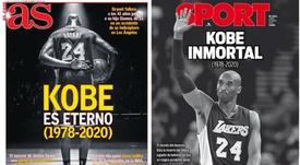 Les Unes des journaux sportifs en Espagne du 27/01/2020. AS/Sport