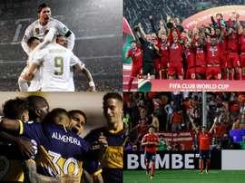 Os dez clubes com mais títulos internacionais. BeSoccer/EFE/AFP