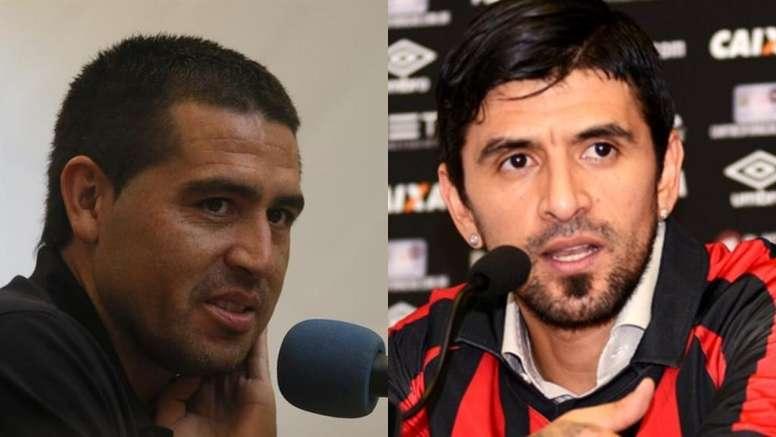 Riquelme y Lucho, una buena amistad. Montaje/EFE/APR