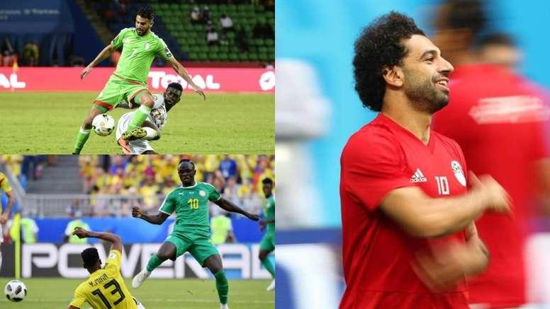 Los ocho 'cracks' llamados a brillar en esta Copa África. AFP