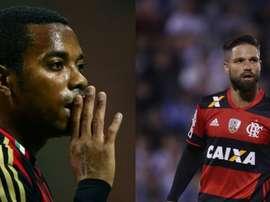 Robinho y Diego podrían llegar a Santos. AFP/EFE