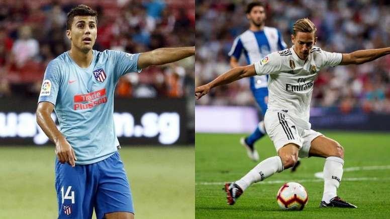 Barça, City y Bayern se rifan a Rodrigo y el Atleti contraataca con Llorente. Montaje/Atleti/EFE