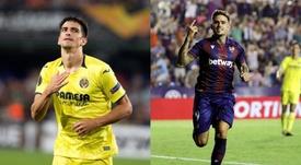 Roger y Gerard, los mejores goleadores nacionales, frente a frente. Montaje/EFE