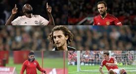 El United espera cuatro salidas antes de lanzarse a por Rabiot. Montaje/AFP/EFE
