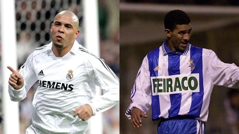 La apuesta secreta entre Ronaldo y Djalminha en 2004. Montaje/RealMadrid/EFE