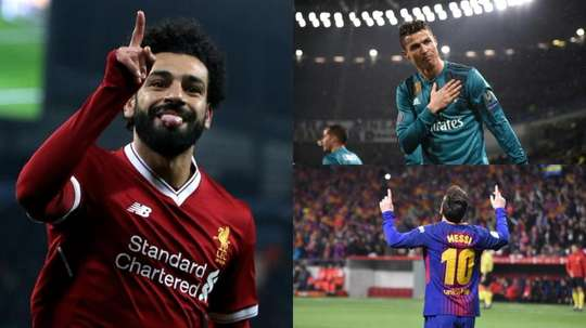 Salah, Messi and Ronaldo feature highly. BeSoccer