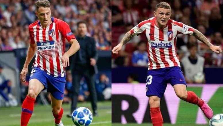 Arias entró en la segunda mitad y el Atlético reaccionó. AFP