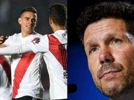 El colombiano dejó la puerta abierta a volver al Atleti. Montaje/BeSoccer