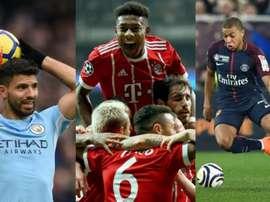 City e Bayern depende de si mesmos, PSG tem de esperar de um favor do Nantes.AFP