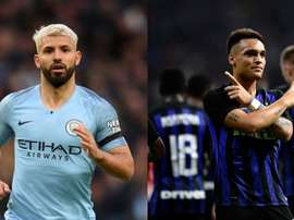 Manchester City pense au successeur de Sergio Agüero. Montage/AFP