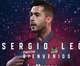 Sergio León est officiellement un joueur de Levante. Twitter/LevanteUD