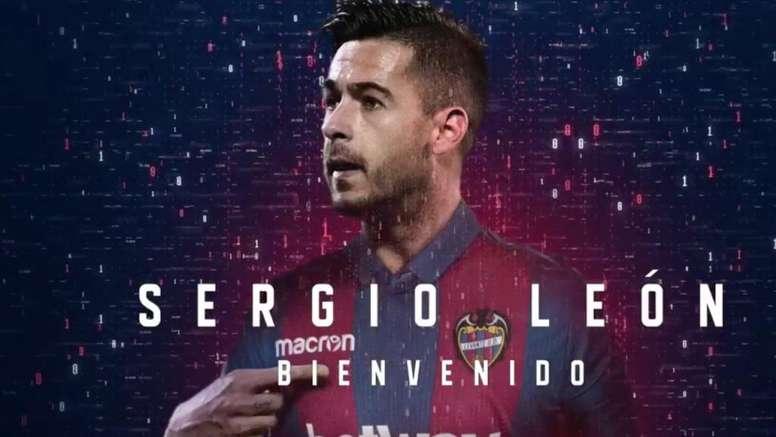 Sergio León ya es oficialmente jugador del Levante. Twitter/LevanteUD