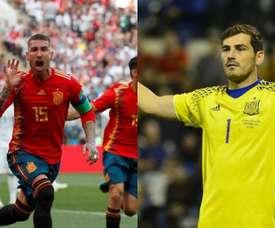 Le record que Ramos peut chiper à Casillas avec 'la Roja'. Montage/EFE