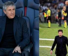 Zidane et Simeone, les exemples de Setién pour la révolution. AFP/EFE