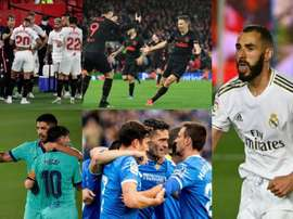 Sevilla, Atletico, Barca, Getafe and Real Madrid are still in European competition. AFP/EFE