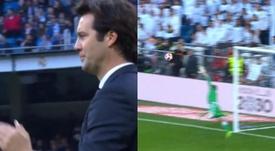 Solari aplaudió el golazo de su estrella. Captura/BeinSports