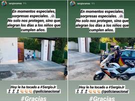 Filho de Sergio Ramos recebe os parabéns. Instagram