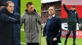 Cuatro aspirantes para sustituir a Lampard. Montaje/AFP