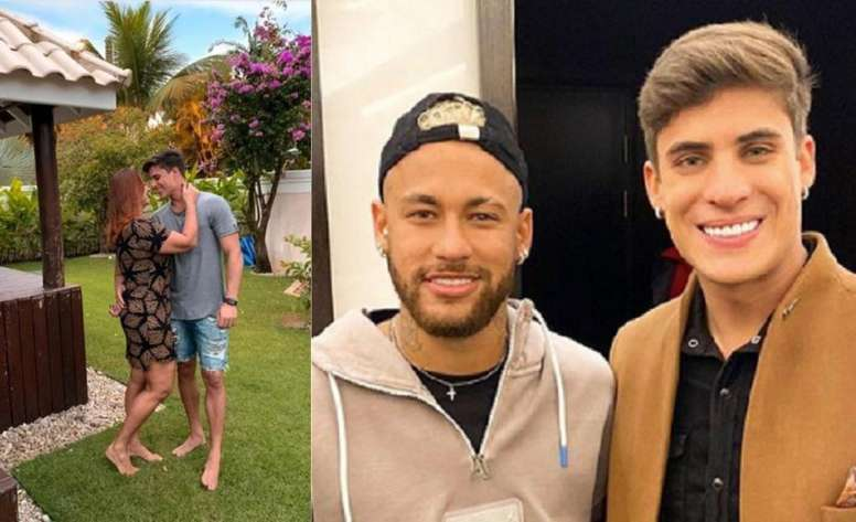 La mère de Neymar s'est remis avec le jeune mannequin de 22 ans. Instagram/TiagoRamos