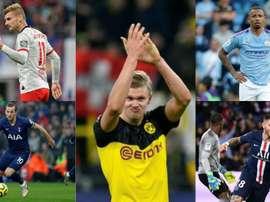 Os cinco craques da elite com quem sonha a Juventus. Montagem/AFP
