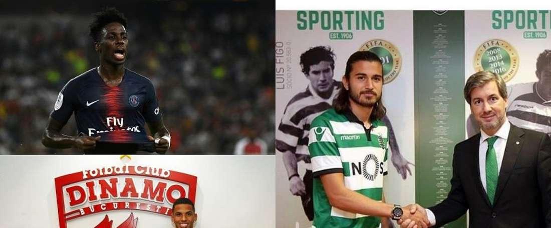 Weah, Rivaldinho et Mattheus Oliveira. Montage/BeSoccer