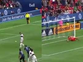 Jugaba contra Ibra, quiso copiar su 'Panenka'... ¡y quedó en ridículo! Captura/MLS