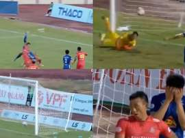 Quang Nam y Sai Gon empataron a tres. Capturas/VietnamSports