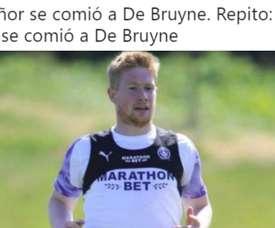 De Bruyne in sovrappeso dopo la quarantena. Twitter/Joanferdez