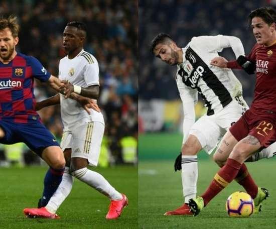 Surge a possibilidade de mais uma troca entre Barça e Juve. AFP