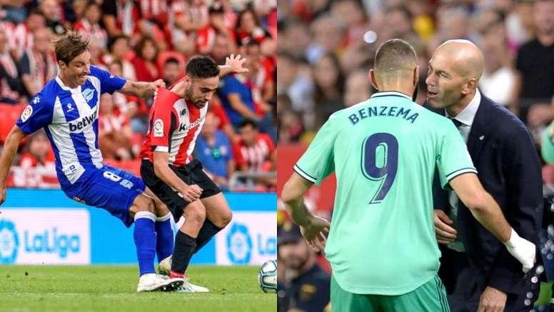 El Athletic se reencuentra con la historia, el Madrid se lame sus heridas. Montaje/EFE