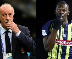 Del Bosque sees a future for Bolt. EFE/AFP