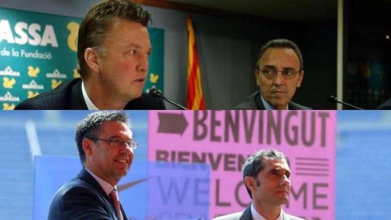 De Gaspart y Van Gaal a Bartomeu y Valverde. EFE