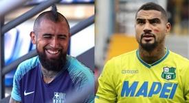 Vidal y Kevin-Prince compartirán vestuario. EFE