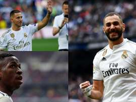 O novo tridente do Real Madrid. Montaje/BeSoccer