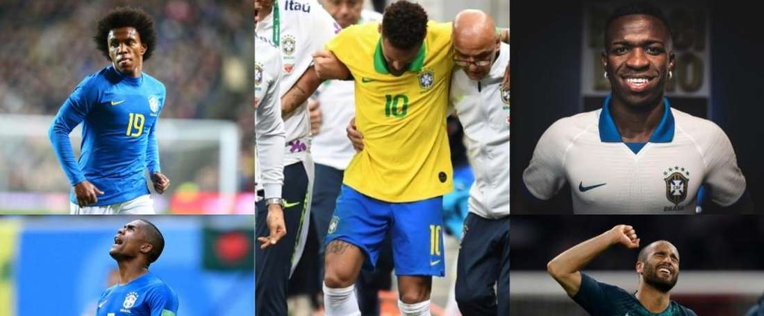 Tite has a fair few options to use as a substitute for Neymar. Montaje/EFE/AFP