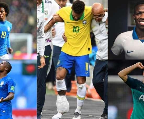 Os possíveis substitutos de Neymar para a Copa América. Montagem/EFE/AFP