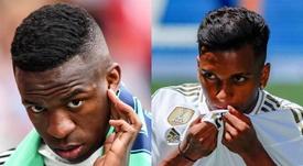 Marcelo falou sobre Vinicius, Rodrygo e seu futuro como jogador do Real Madrid. Montagem/EFE
