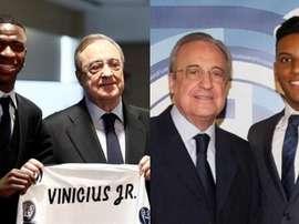 Rodrygo e Vinicius  terão que lidar com muita pressão. EFE/RealMadrid