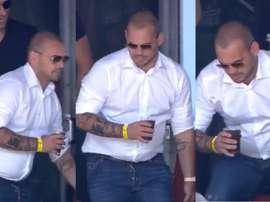 A nova versão de Sneijder. Capturas/Olé