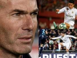 Zidane attende Hazard e James. AFP/EFE