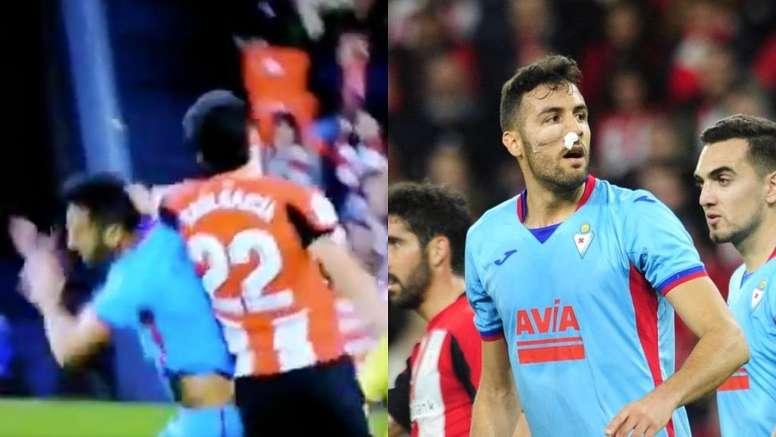 Athletic y Eibar empataron 0-0 en un duelo marcado por la dureza. Captura/Movistar/LaLiga