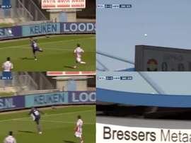 Vloet mandó el balón fuera del estadio. Capturas/FOXSports
