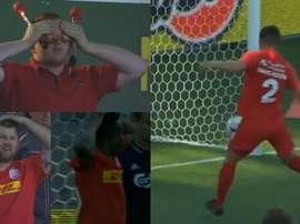 Thychosen perde um gol incrível. Capturas/Eurosport
