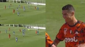 Cristiano Ronaldo, el primer goleador de la 'era Pirlo'. Capturas/SkySport